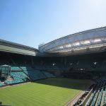 Play on Centre Court at Wimbledon
